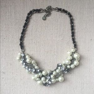 Jewelry - Pearl and Stone Twisted Statement Necklace